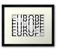 EUROPE TYPOGRAPHY Framed Print