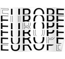 EUROPE TYPOGRAPHY Poster