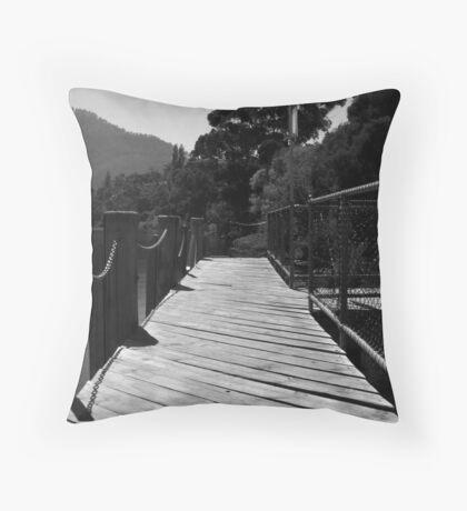 Wooden Jetty Throw Pillow
