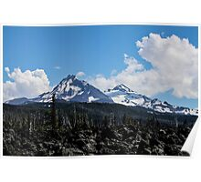 North and Middle Sisters, Oregon Poster