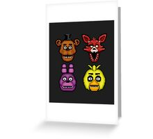 Five Nights at Freddy's 1 - Pixel art - The Classic 4 Greeting Card