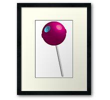 Death Star Lollipop (Pink) Framed Print