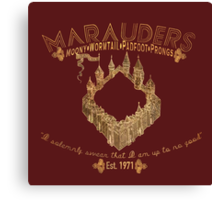 marauders shirt Canvas Print