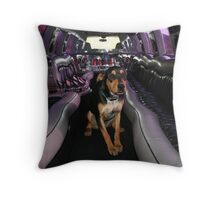 Ride with the Big Dogs Throw Pillow