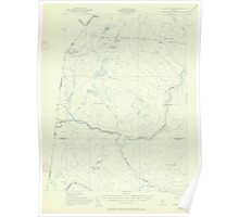 Maine USGS Historical Map Beaver Pond 306461 1955 62500 Poster