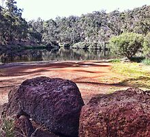 Blackwood River Rocks #3 by Elaine Teague