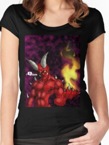Demonic Women's Fitted Scoop T-Shirt