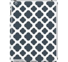 Charcoal and White Quatrefoil Pattern iPad Case/Skin