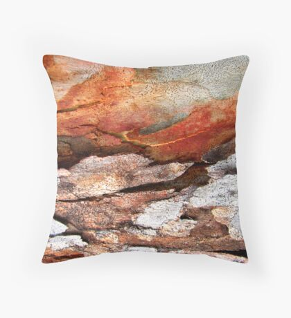 MELTING SNOW AT DUSK Throw Pillow