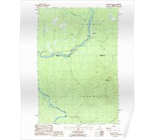 Maine USGS Historical Map Beaver Pond SE 104903 1986 24000 Poster