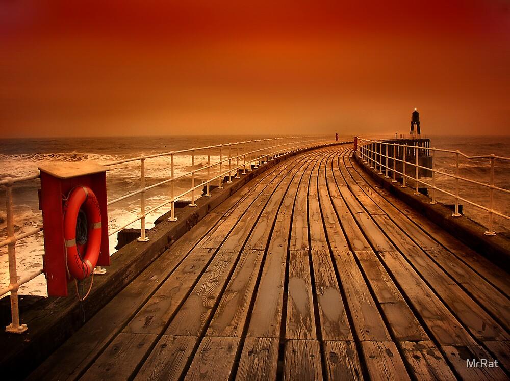 Whitby Pier by MrRat