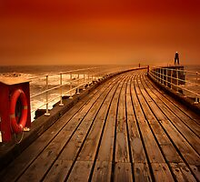 Whitby Pier by John Anthony Photography