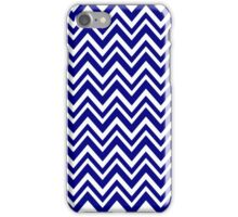 Navy Blue and white Chevron Pattern iPhone Case/Skin