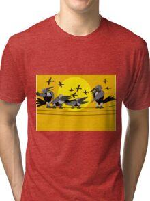 Funny birds Tri-blend T-Shirt