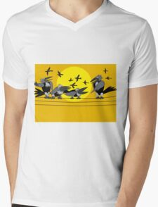 Funny birds Mens V-Neck T-Shirt
