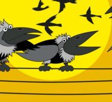 Funny birds Sticker