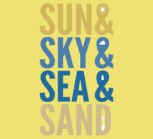 Sun Sky Sea And Sand Kids Clothes
