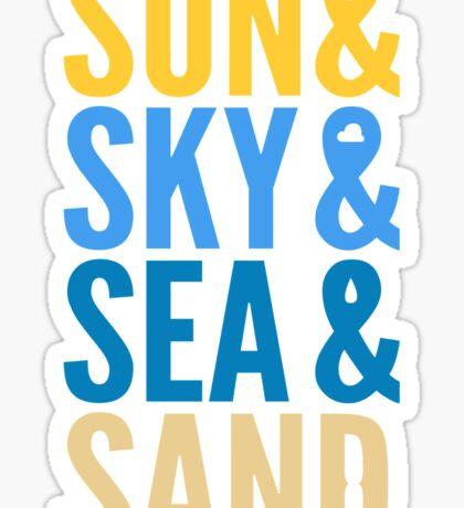 Sun Sky Sea And Sand Sticker