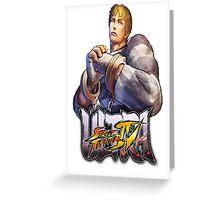 ultra street fighter cody Greeting Card