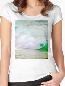 Waves Crashing The Surf Women's Fitted Scoop T-Shirt