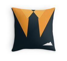 Suit & Tie - Navy with White Pocket Squares Throw Pillow