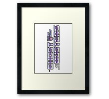 TF Ghostbusters (Choose The Form) Wht Framed Print