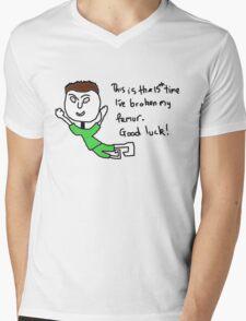 broken femur Mens V-Neck T-Shirt