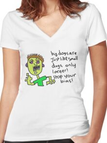 Big dogs Women's Fitted V-Neck T-Shirt