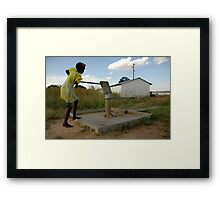 girl... Framed Print