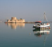 Boat in Nafplion Harbour by DRWilliams