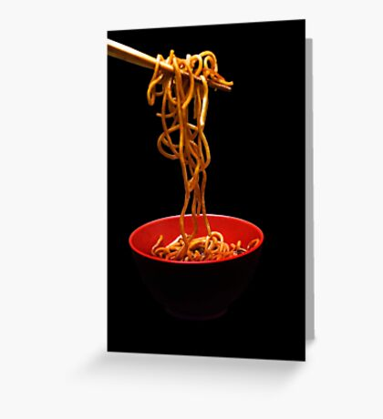 Chinese Noodles  Greeting Card