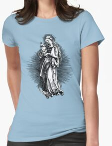 Maria as Moon Madonna - Mother od God Womens Fitted T-Shirt