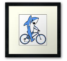Bicycle Riding Left Shark  Framed Print