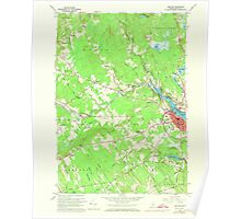 Maine USGS Historical Map Belfast 806498 1960 24000 Poster