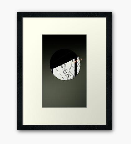 The Haiku Door Framed Print