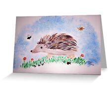 The Happy Hedge Hog Greeting Card
