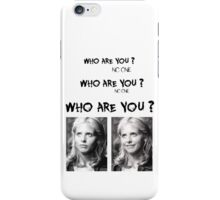 Buffy - Who are you - B&W Black iPhone Case/Skin