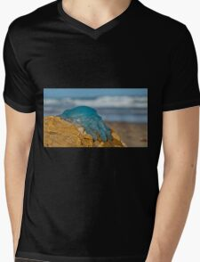 Blue Jellyfish 02 Mens V-Neck T-Shirt