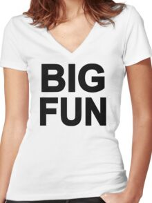 Big Fun Women's Fitted V-Neck T-Shirt