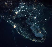 India from Space - India at night - International Space Station - NASA by verypeculiar