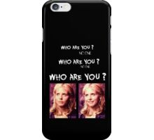 Buffy - Who are you - coloured White iPhone Case/Skin
