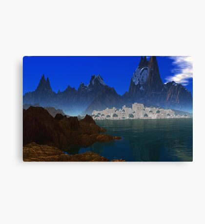 Cities by the Sea  Canvas Print