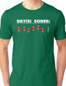Days Sober Funny Geek Nerd Unisex T-Shirt
