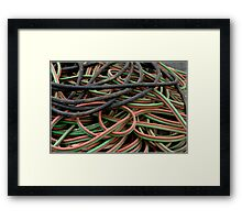Multi colored cables Framed Print