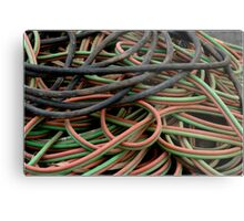 Multi colored cables Metal Print