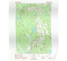 Maine USGS Historical Map Benedicta 104911 1989 24000 Poster
