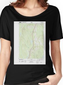 Maine USGS Historical Map Benedicta 20110902 TM Women's Relaxed Fit T-Shirt