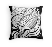 Psychedelic Opabinia Throw Pillow