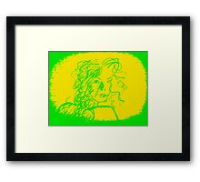 Caught series, green & yellow Framed Print