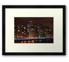 Blue Streak Quays Framed Print